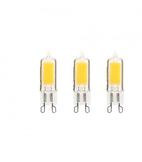 PACK DE 3 Ampoule LED G9 Capsule RETRO LED 2W 200Lm (équiv 20W) Blanc Chaud 250° XANLITE - PACK3ALG9200 - AMPOULE G9 - siageo-led.com