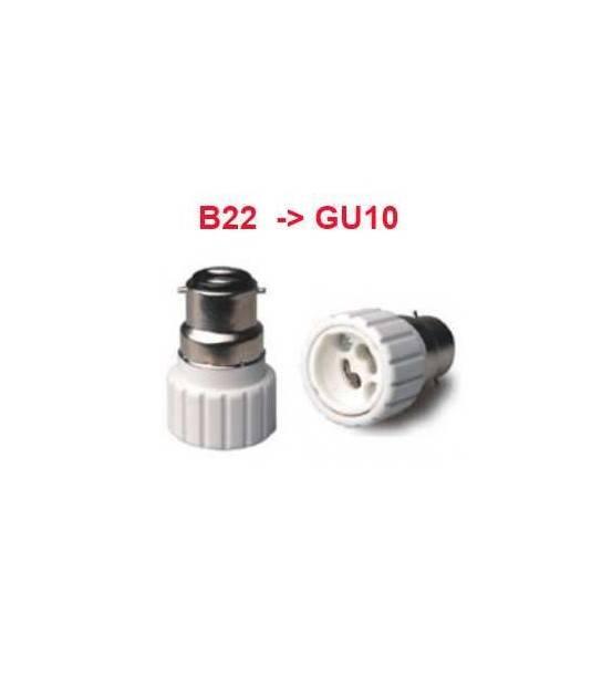 Douille adaptateur B22 vers GU10 pour lampes et ampoules - DOUILLE & ADAPTATEUR - siageo-led.com