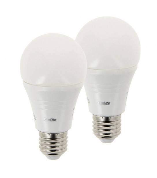 PACK DE 2 Ampoule LED E27 A60 Dimmable LED EVOLUTION XXX 9W 806Lm (équiv 60W) Blanc Neutre 180° XANLITE - E27 - siageo-led.com