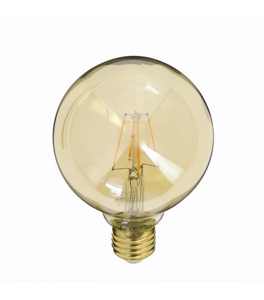 Ampoule LED filament E27 G95 Globe VINTAGE 3.8W 350Lm (équiv 30W) Blanc Chaud 320° XANLITE - RFDE400B95A - FILAMENT - siageo-led.com