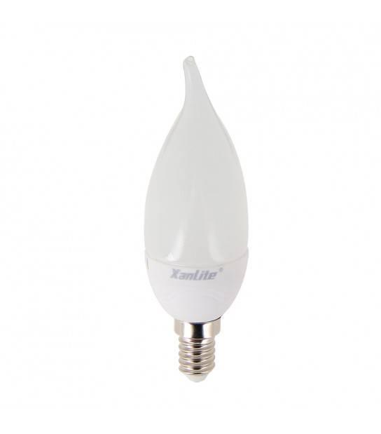Ampoule LED E14 Flamme LED EVOLUTION XXX 6W 470Lm (équiv 40W) Blanc Chaud 140° XANLITE - EV470FC - CYBER WEEK - siageo-led.com