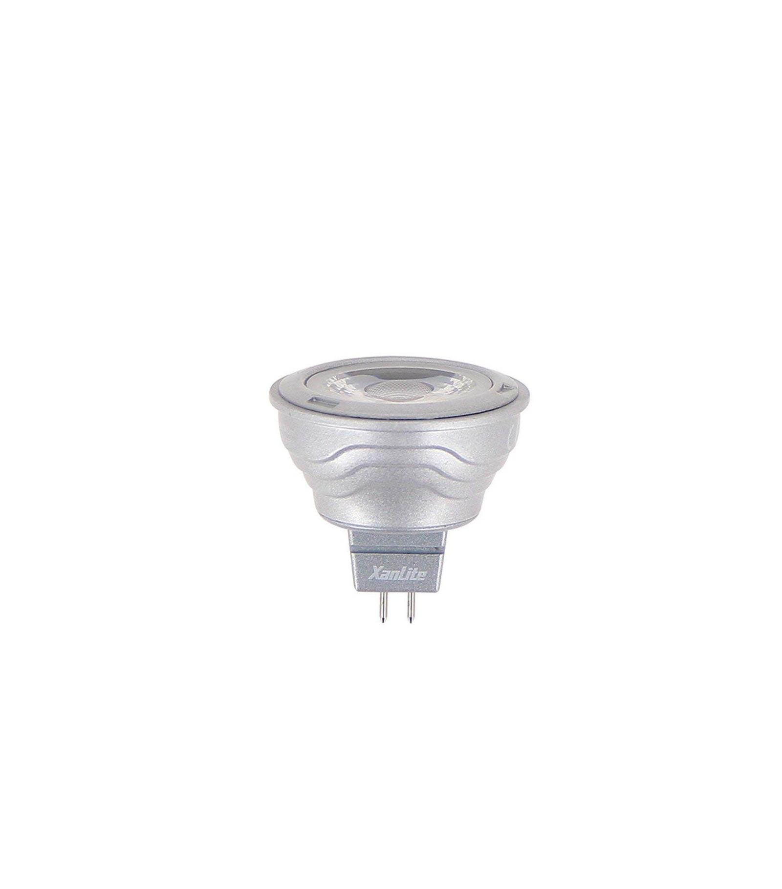 ampoule led gu5 3 mr11 5 5w 345lm quiv 35w blanc chaud 36 12v xanlite gu5 3 siageo. Black Bedroom Furniture Sets. Home Design Ideas