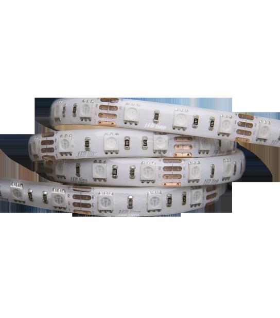 Bande 300 LED SMD 5060 de 5 mètres 12V RGB Diffusion 120° Etanche IP65 Revêtement silicone LED Line - 240614 - CYBER WEEK - siageo-led.com