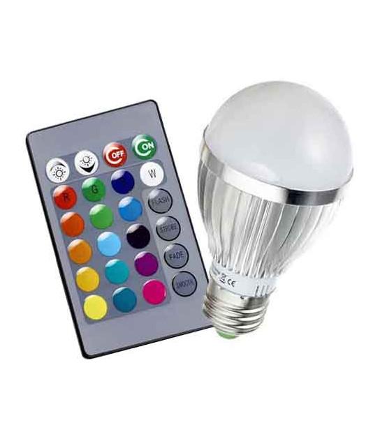 Ampoule à LED 3x2W E27 RGB avec télécommande HIPOW - TÉLÉCOMMANDÉ - siageo-led.com