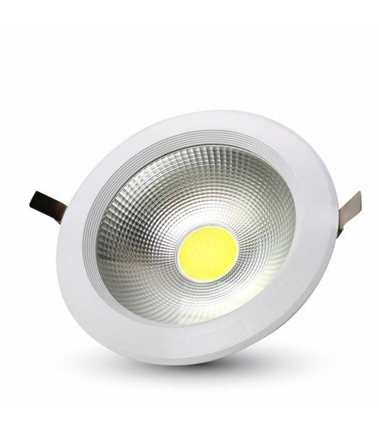 Downlight LED Reflector COB Verre OPAQUE 40W rendu 350W Blanc neutre 4500K HAUT LUMENS V-TAC - 1279 - CYBER WEEK - siageo-led.com