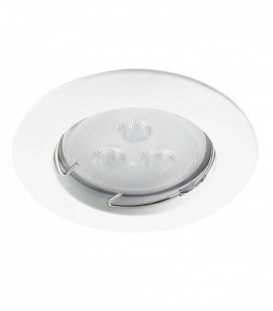 Spot encastrable avec douille raccord protégé incurvé ZAMAK Blanc Rond GU10 IP20 HIPOW - ENCASTRABLE - siageo-led.com