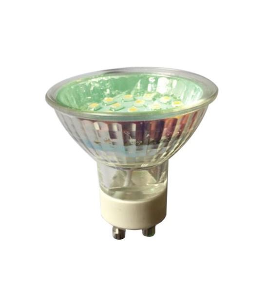 Ampoule LED GU10 à 20 LEDs 1.5W Vert HIPOW - GU10 - siageo-led.com