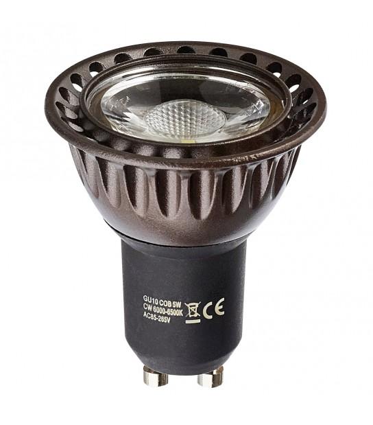 Ampoule LED GU10 COB 7W 500Lm (équiv 50W) Blanc Froid 45° HIPOW - GU10 - siageo-led.com