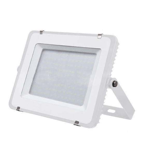 Projecteur blanc 100W LED SMD intégrées IP65 Blanc neutre extérieur V-TAC - VT-100-W - PROJECTEUR MURAL - siageo-led.com