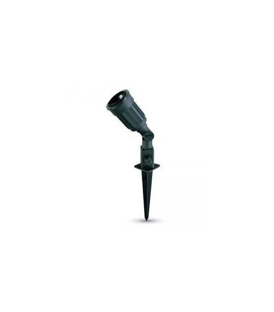 Spot à piquer noir E27 IP44 V-TAC - VT-728 - SPOT LED EXTERIEUR - siageo-led.com