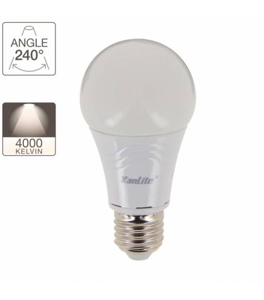 Ampoule A60 806 lumens Equivalence 60W Culot E27 180° 4000K Dimmable XanLite - EE806GCWD - CYBER WEEK - siageo-led.com