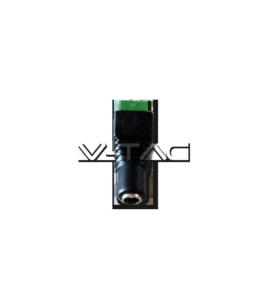 Connecteur pour ruban LED DC femelle V-TAC - 3512 - ACCESSOIRES RUBAN LED - siageo-led.com