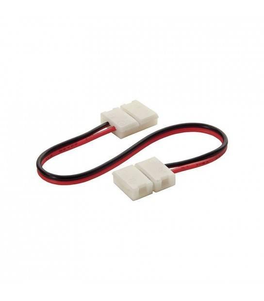 Rallonge connecteur bande LED et Clip Connecteur Raccord Pré-Cablé Mono Couleur pour bande 8mm - 19033 - ACCESSOIRES RUBAN LED - siageo-led.com