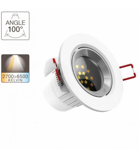Spot LED encastrable 220V 6.5W equi 50W 345LM 2700-6500K 100° XANLITE - SPOT LED INTERIEUR - siageo-led.com