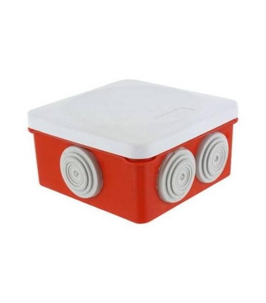 Boîte dérivation OPTIBOX avec tétines No Air étanche IP55 IK07 960° 80x80x42 mm BLM - BOITIER ENCASTREMENT DERIVATION - siageo-led.com