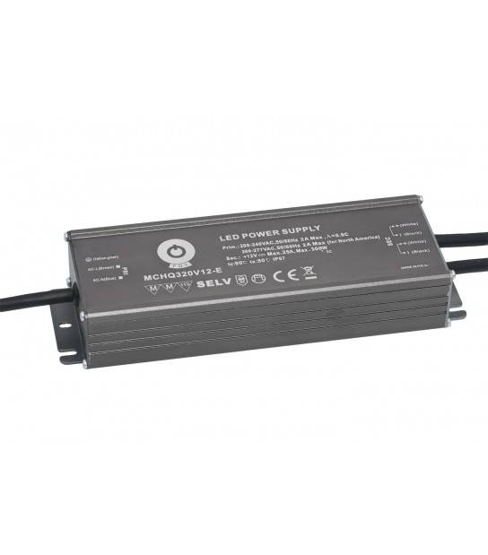Transformateur alimentation spéciale led 320W 24V DC IP67 Variable MCHQ320V24-E - TRANSFORMATEUR SPECIAL LED - siageo-led.com