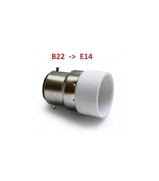 Douille adaptateur B22 vers E14 pour lampes et ampoules - DOUILLE & ADAPTATEUR - siageo-led.com