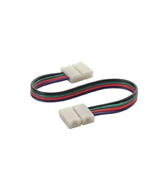 Rallonge double connecteur bande LED et Clip Connecteur Raccord Pré-Cablé RGB 12mm HIPOW - CYBER WEEK - siageo-led.com
