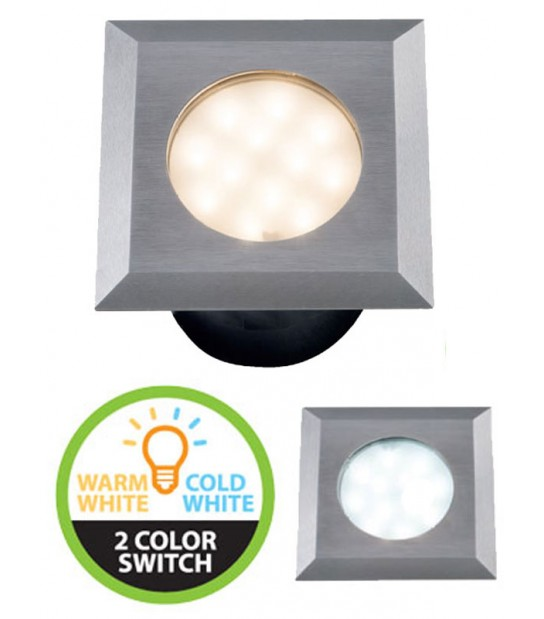 Spot encastrable LED SMD CARBO 316L IP67 12V 2W 85/90LM Blanc Chaud & blanc froid 3000-6000K GARDEN LIGHTS - ENCASTRABLE JARDIN - siageo-led.com