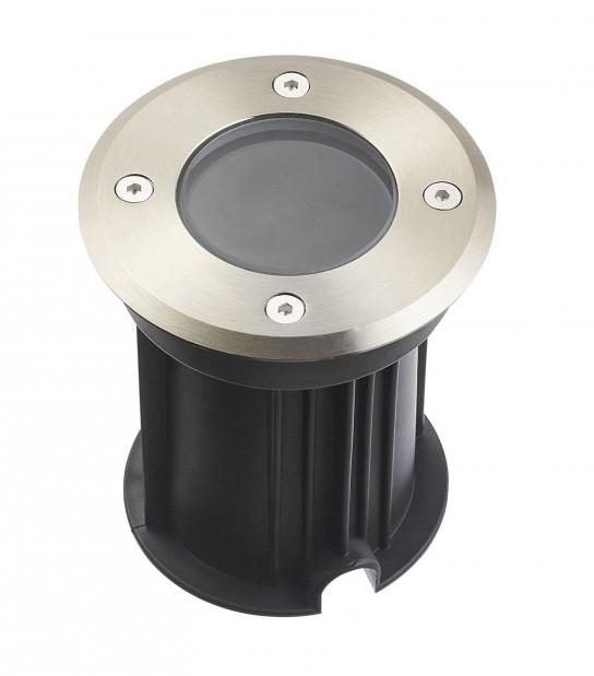 Spot encastrable Rond TORONTO INOX 316L (montage en série avec 2 presses étoupe) CLEAR GU10 220V IP67 HIPOW - ENCASTRABLE JARDIN - siageo-led.com