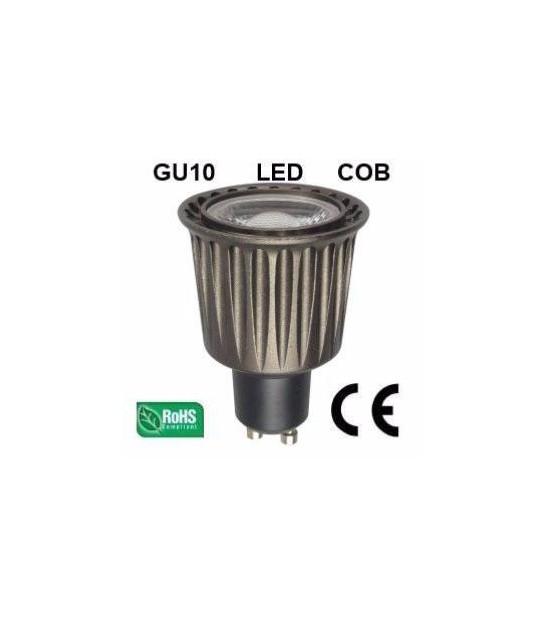 Ampoule LED GU10 COB 7W 500Lm (équiv 50W) Blanc neutre 45° HIPOW - GU10 - siageo-led.com