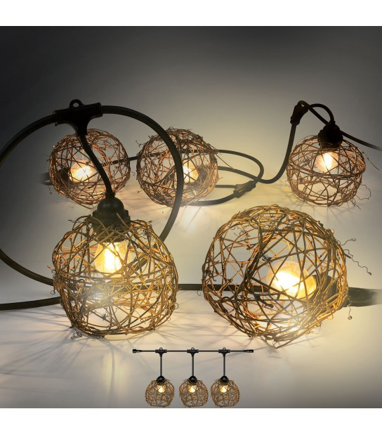 Guirlande AMBIANCE 6M 8AMPOULES LED E27 2W OSIER EASY CONNECT - GUIRLANDES - siageo-led.com