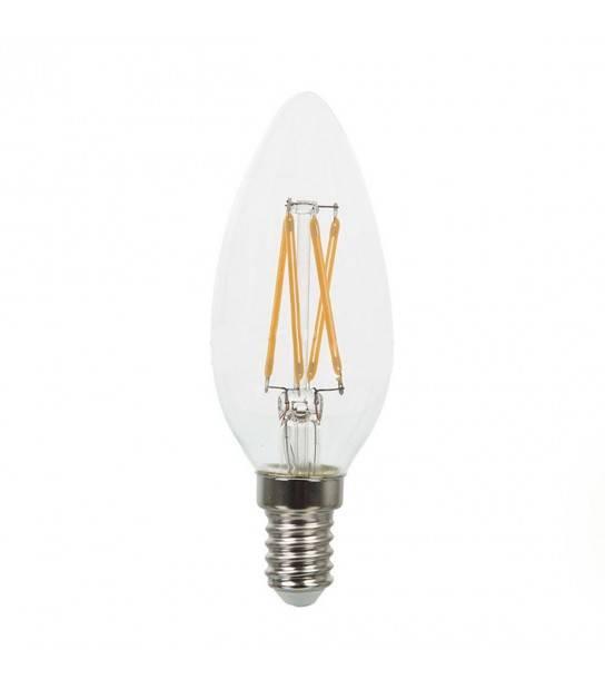 Ampoule à filament LED E14 Bougie 4W Blanc chaud V-TAC - 43071 - AMPOULE E14 - siageo-led.com