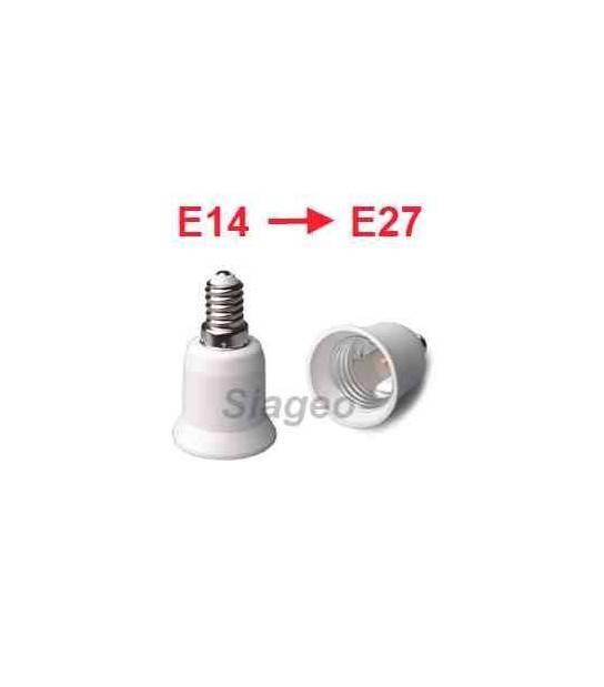 Douille adaptateur E14 vers E27 pour lampes et ampoules - DOUILLE & ADAPTATEUR - siageo-led.com