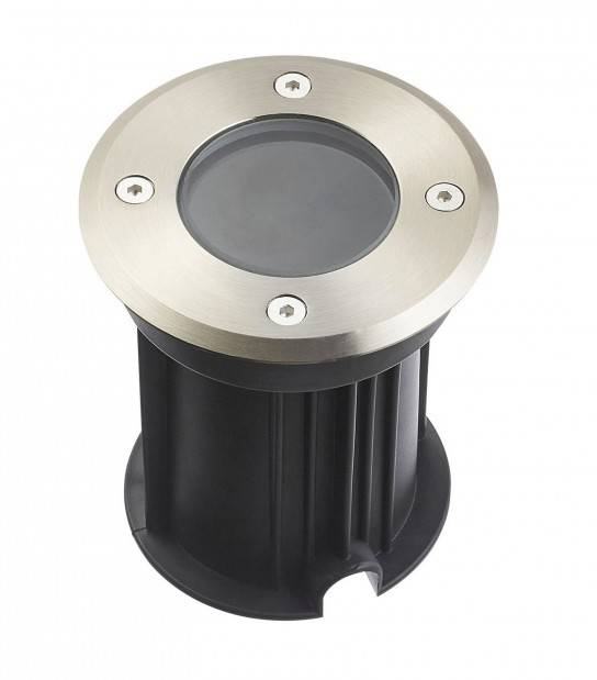 Spot encastrable Rond TORONTO INOX 316L (montage en série avec 2 presses étoupe) CLEAR GU5.3 12V IP67 HIPOW - ECLAIRAGE LED EXTERIEUR - siageo-led.com