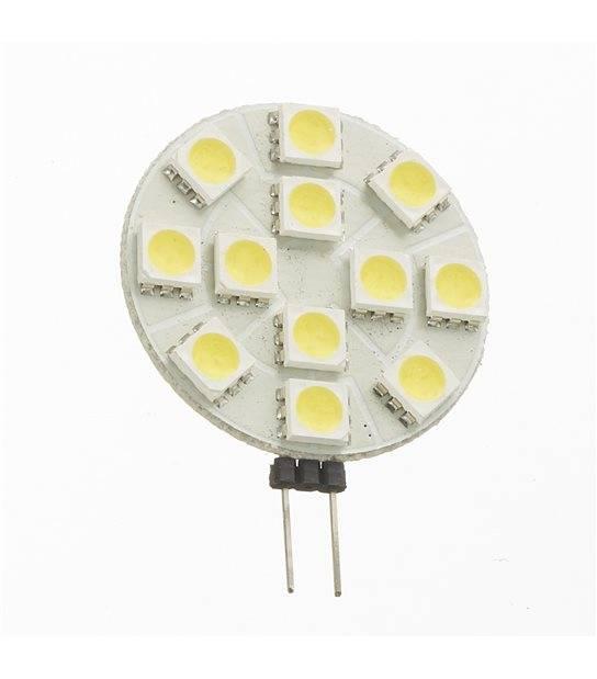 Ampoule LED G4 à 12 SMD5050 2.7W 180Lm (équiv 25W) Blanc Froid 150° 12V HIPOW - AMPOULE G4 - siageo-led.com