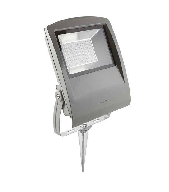 Pack projecteur LED SMD gris 100W équi 180W IP65 Blanc Chaud extérieur+ Support à piquer Gris V-TAC - PROJECTEUR ARBRE - siageo-led.com