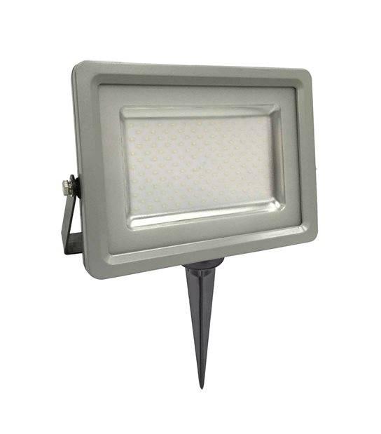 Pack projecteur LED SMD noir et gris 50W équi 250W IP65 Blanc Chaud extérieur+ Support à piquer Noir V-TAC - PROJECTEUR ARBRE - siageo-led.com