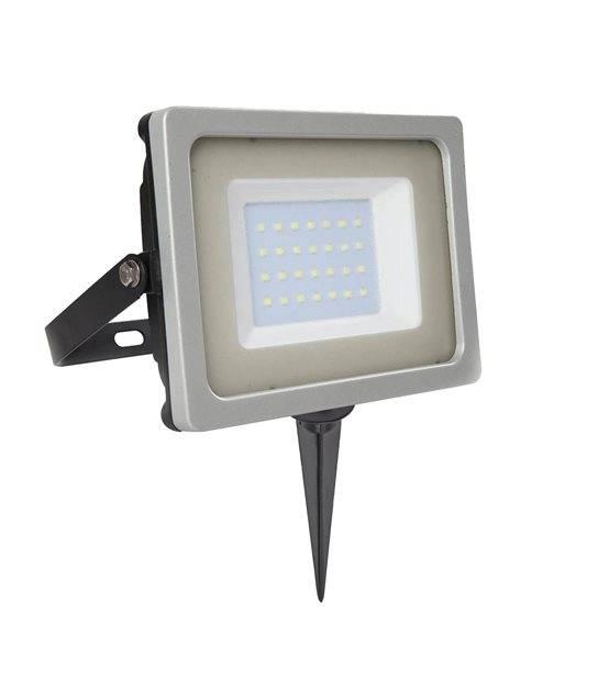 Pack projecteur LED SMD 30W rendu 150W Blanc froid 6000K+ Support à piquer Noir V-TAC - PROJECTEUR ARBRE - siageo-led.com