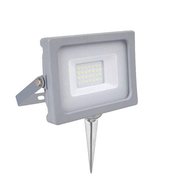 Pack projecteur LED SMD 10w IP65 800lumens 6400K + Support à piquer Gris V-TAC - PROJECTEUR ARBRE - siageo-led.com
