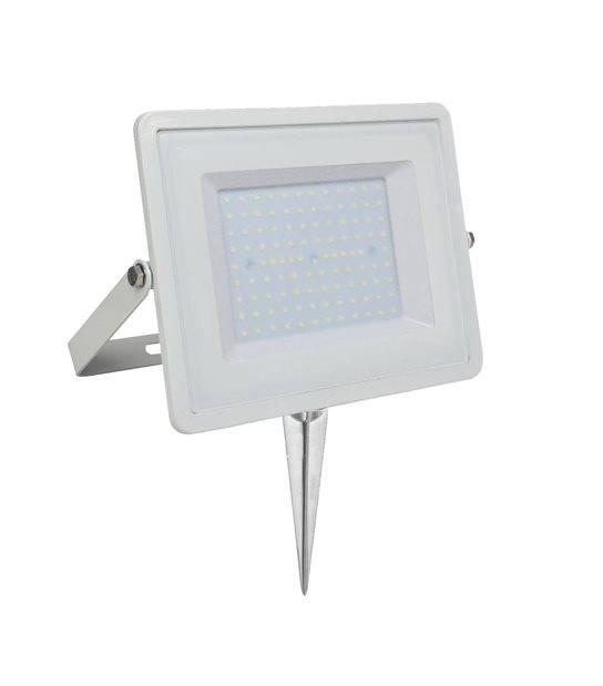 Pack projecteur LED SMD 100° 100W 8000lm 6400K IP65 + Support à piquer Noir V-TAC - PROJECTEUR ARBRE - siageo-led.com