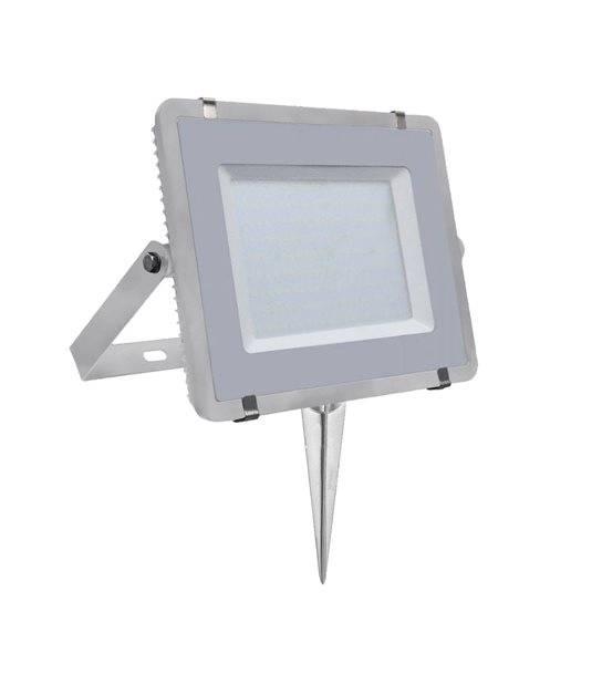 Pack projecteur LED SMD 200W Blanc neutre 4000K IP65 + Support à piquer Gris V-TAC - PROJECTEUR ARBRE - siageo-led.com