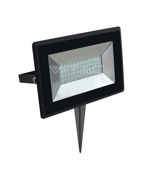 Pack projecteur LED SMD E 50W 4250LM 3000K + Support à piquer Noir V-TAC - PROJECTEUR ARBRE - siageo-led.com