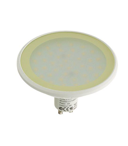 Ampoule LED GU10 MR30 Dimmable SMD 6W 480Lm (équiv 40W) Blanc Chaud EASY CONNECT - GU10 - siageo-led.com