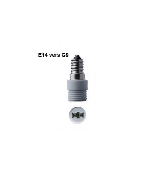 adaptateur douille e14 vers g9 pour lampes et ampoules douille adaptateur siageo. Black Bedroom Furniture Sets. Home Design Ideas