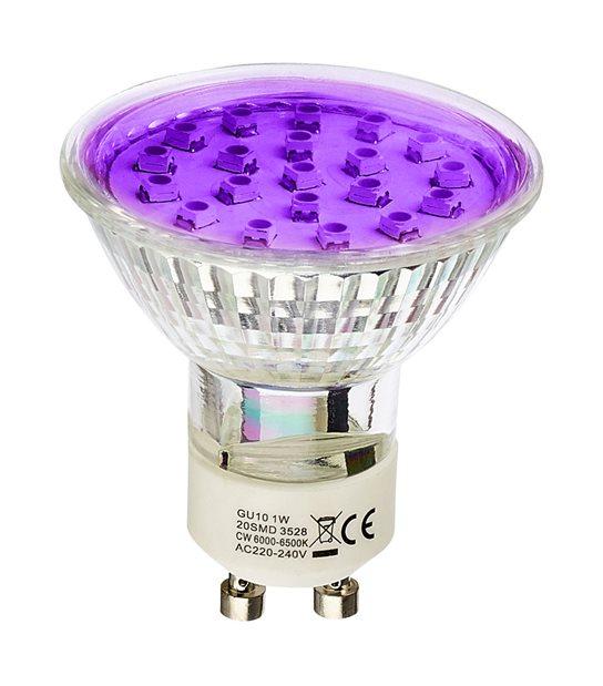 Ampoule LED GU10 à 20 LEDs 1.5W Violet HIPOW - GU10 - siageo-led.com