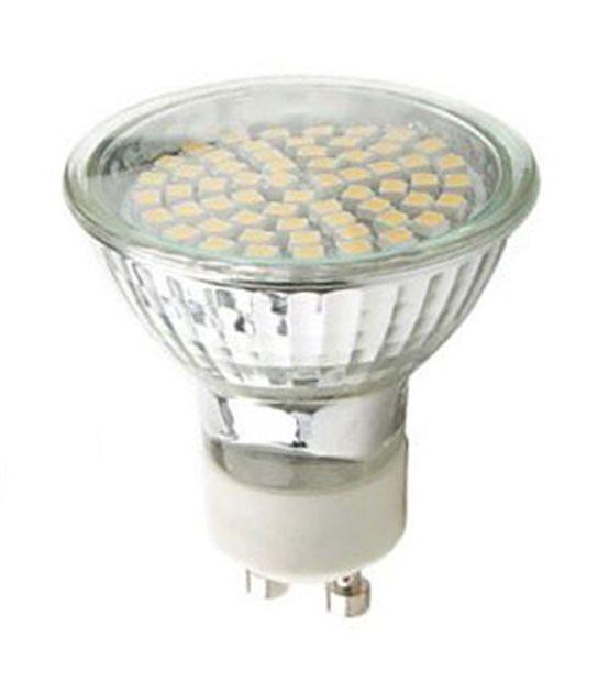 DESTOCKAGE Ampoule LED GU10 à 60SMD 3W 250Lm (équiv 30W) Blanc Chaud 120° HIPOW - GU10 - siageo-led.com