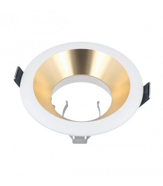 Spot encastrable OTLIKA Fixe Aluminium Noir et Or Sablé LEDLINE - 241321 - ENCASTRABLE - siageo-led.com