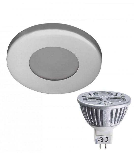 Pack Spot encastrable salle de bain Chrome Rond GU5.3 MR16 IP44 6W Blanc Chaud ampoule fournie EDISON - PACK SPOT SALLE DE BAIN - siageo-led.com