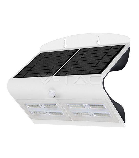 Lampe Murale Solaire Blanc 6,8W 800LM IP65 4000K V-TAC - 8278 - PROJECTEUR JARDIN - siageo-led.com