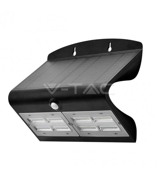 Lampe Murale Solaire Noir 6,8W 800LM IP65 4000K V-TAC - 8279 - PROJECTEUR JARDIN - siageo-led.com