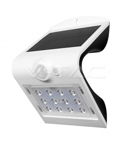 Lampe Murale Solaire Blanc 1,5W 220LM IP65 4000K V-TAC - 8276 - PROJECTEUR JARDIN - siageo-led.com