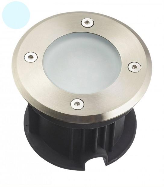 Spot encastrable LED SMD VEGAS Inox 316L 220V Rond (montage en série avec 2 presses étoupe) FROST 2W IP67 Blanc Froid HIPOW - SPOT EN SERIE - siageo-led.com