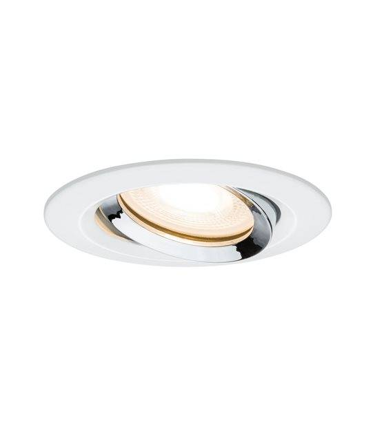 Spot LED Encastrable NOVA Blanc Chrome GU5.3/GU10 220V IP65 orientable PAULMANN - 93663 - ENCASTRABLE - siageo-led.com