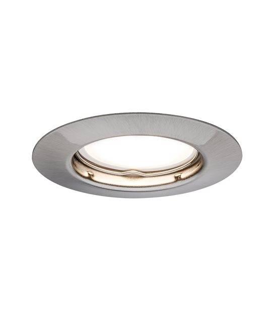 Spot LED encastrables Acier rond fixe GU10 4.5W PAULMANN - 93659 - ENCASTRABLE - siageo-led.com