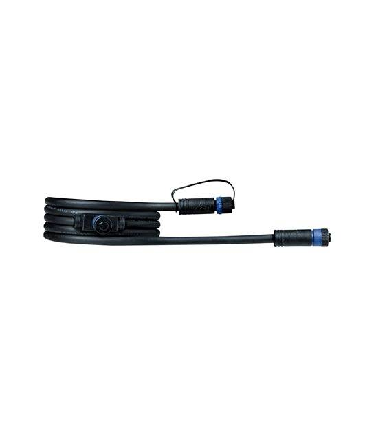 Plug&Shine Prolongateur 2m avec 2 sorties IP68 PAULMANN - 93926 - ACCESSOIRES ECLAIRAGE LED EXTERIEUR - siageo-led.com